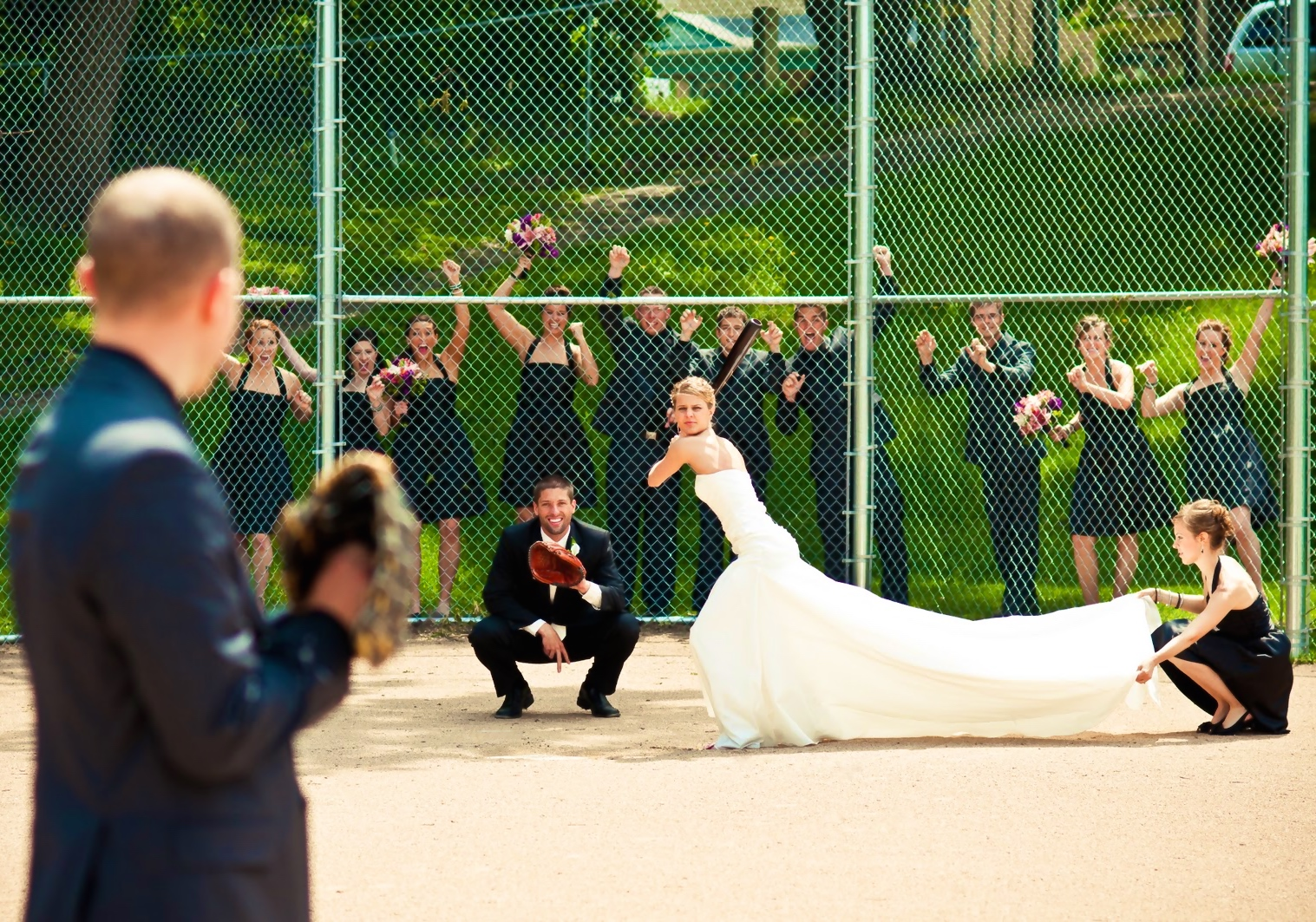 EFANI KIM AND DAVE'S BASEBALL WEDDING